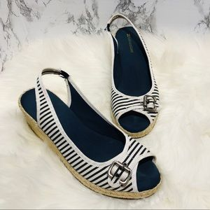 Naturalizer Sherene Striped Wedges Size 8
